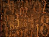 Magic numbers brown background illustration — Stock Photo