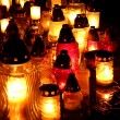 Lights of Cemetery Candles at night — Stock Photo #34771381