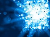 Abstract blue xmas background — Stock Photo