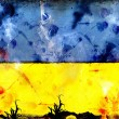 Ukraine flag - political conflict strike concept — Stock Photo