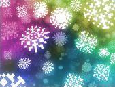 Pixel schneeflocken hintergrund retro-stil-abbildung — Stockfoto