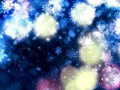 Красивый нежный фон Рождество снежинки — Стоковое фото