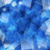 Blue abstract geometric background — Stock Photo