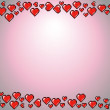 Valentines Day background frame, red hearts illustration — Stock Vector #39839117