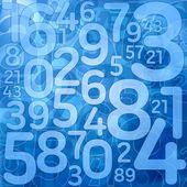Blue number science background — Stock Photo