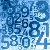Random lottery number background — Stock Photo