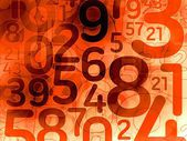 Red random number math background texture — ストック写真