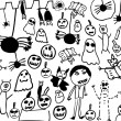 Children doodles of halloween monsters — Stock Photo #50623947