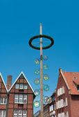 Maypole i munster, Tyskland — Stockfoto