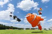Colorful figure kites — Stock Photo