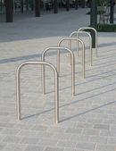 Bicycle racks — Stock Photo