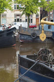 Boats in canal — Stockfoto