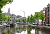 Canal in groningen, paesi bassi — Foto Stock