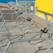 Bicycle racks — Stock Photo