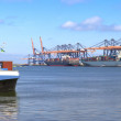 Container ship in harbor — Stock Photo #13746843