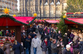 Christmas market in cologne, germany — Stock Photo