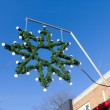 Christmas star decoration — Stockfoto