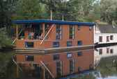 Houseboats canal — Photo