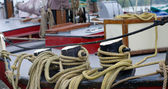 Ropes on boat — Stock Photo