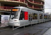 Tram in dusseldorf — Stock Photo