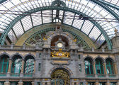 Antwerp central train station — Stock Photo