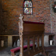 Stock Photo: Church pew