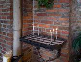 Chiesa di candele — Foto Stock