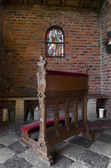 Church pew — Stock Photo