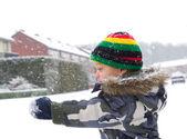 Děti ve sněhu — Stock fotografie