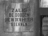 Phrase on tombstone — Stock Photo