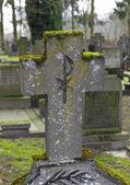 Crucifix tombstone — Stock Photo