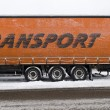 Trailer in snow — Stock Photo