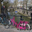 Stock Photo: Pink bicycle