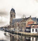 Dutch village Oudewater — Stock Photo