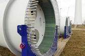 Part of new windturbine — Stock Photo