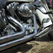 Motorcycle exhaust — Stockfoto #30912123
