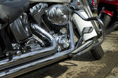 Motorcycle exhaust — Stock Photo