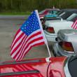 American flag on car — Stock Photo