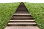 Stairs on a hill — Stock Photo