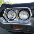 Headlights of car — Stock Photo