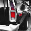 Tail-light of classic car — Foto Stock