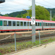 Austrian federal railways train — Stock Photo
