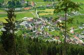 Village in valley — Stock Photo