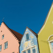 Facades of houses — Stock Photo