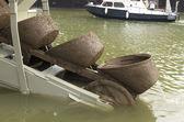 Dredge boat — Stock Photo