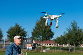 Man controlling a drone — Stock Photo