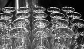 Glasses on bar — Stock Photo