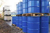 Piled up oil barrels — Stock Photo