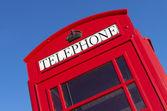 Red telephone box — Stock Photo