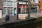 Red light district amsterdam — Stock Photo